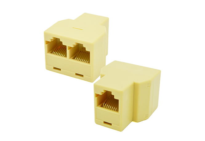 Rj45 Network Cable Y Joiner 2 Way Double Adapter 3 Port