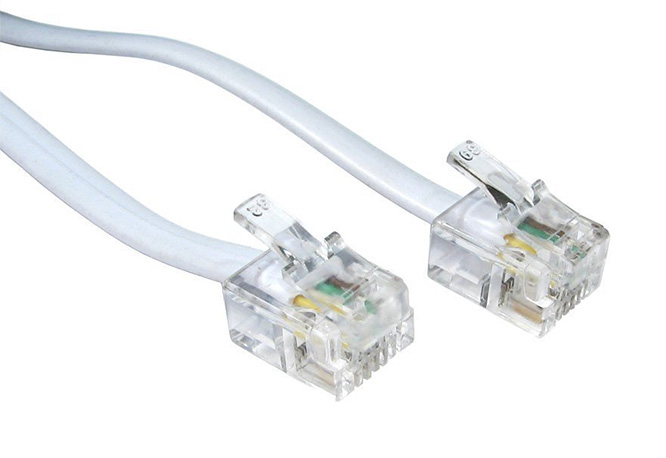 Rj11 to rj11 cable adsl bt broadband modem internet dsl phone router lead white ebay - Cable adsl rj11 ...