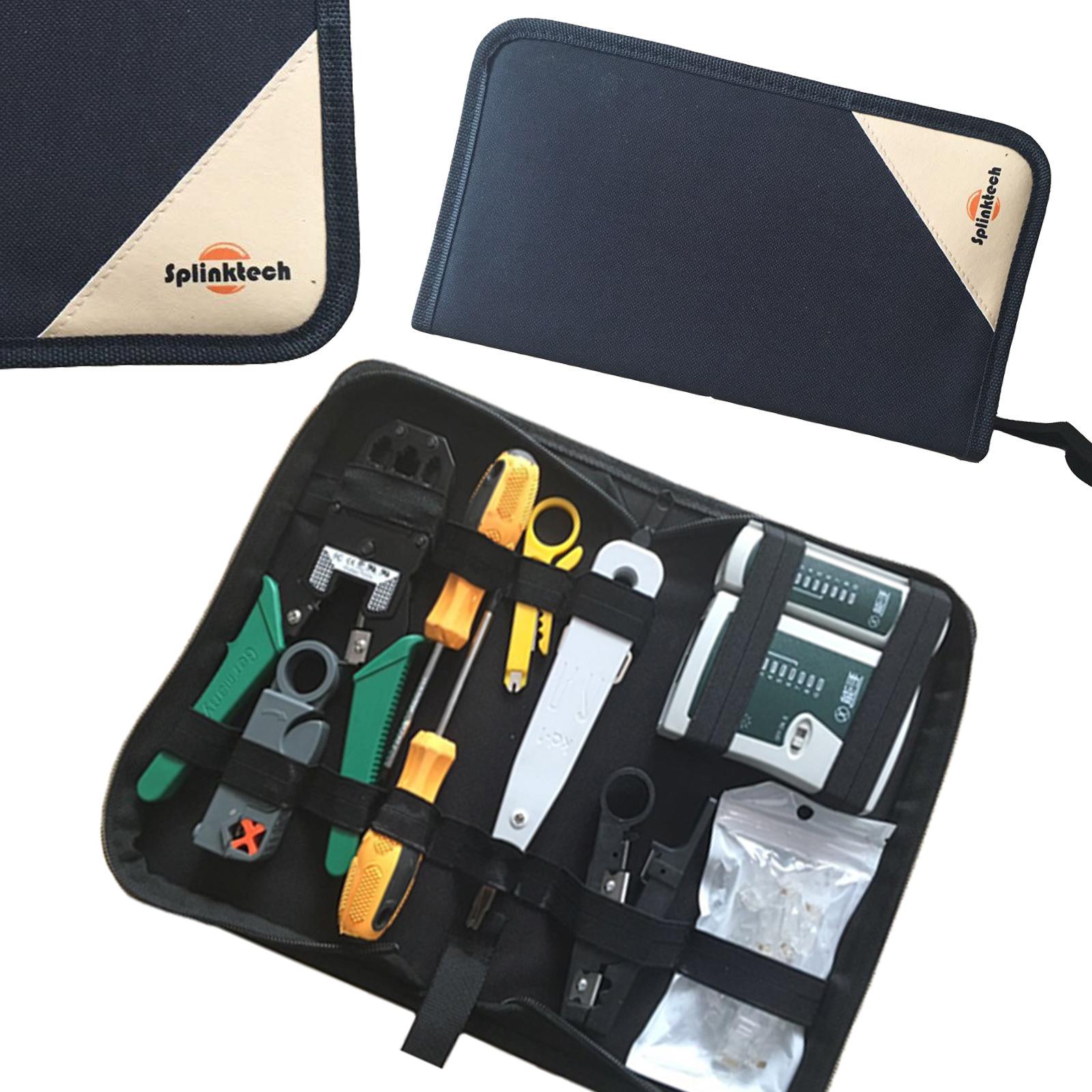 9pc rj45 rj11 crimper cable tester cutter punch tool screwdriver network kit set ebay. Black Bedroom Furniture Sets. Home Design Ideas